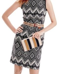 J.Crew Diamond Ikat Print Dress Size 00